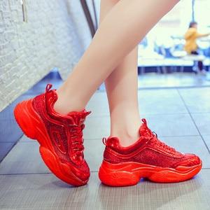 Image 3 - Fashion Sneakers Women Shoes New Women Vulcanize Shoes 2019 Platform Shoes Women Flats Female Chunky Sneakers Walking Shoes