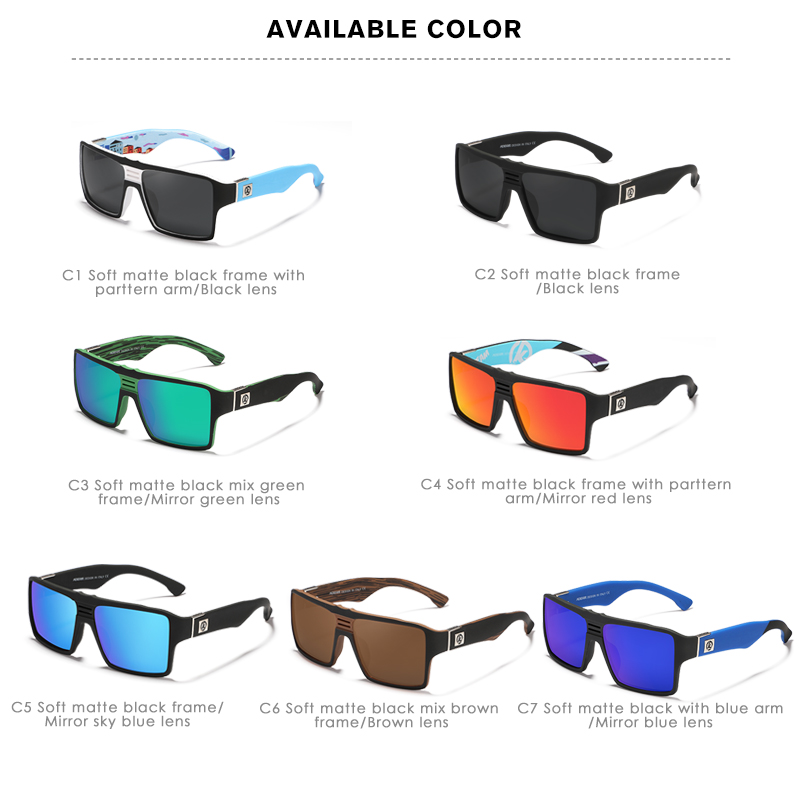 KDEAM Youthful Spirit Polarized Sunglasses Men Keyhole Bridge 6 base Coated Sun Glasses Square Twin logo Design KD365 in Men 39 s Sunglasses from Apparel Accessories