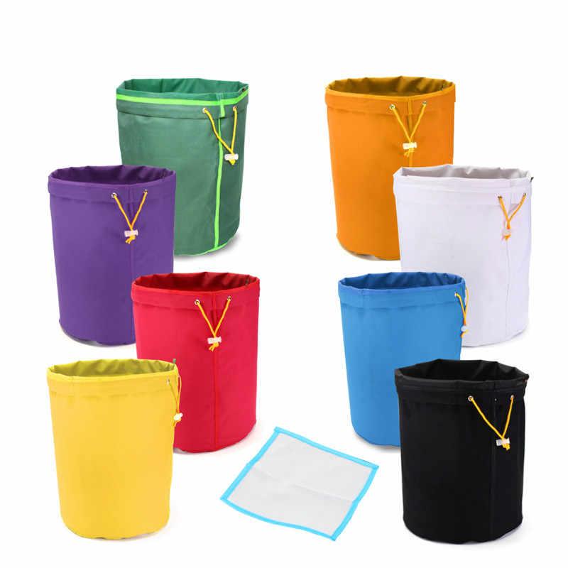Single 5 Gallon Multi-color Micron Sizes Bubble Hash Herbal Filtration Bag +Free Pressing Screen Plant Residue Filter Bubble Bag