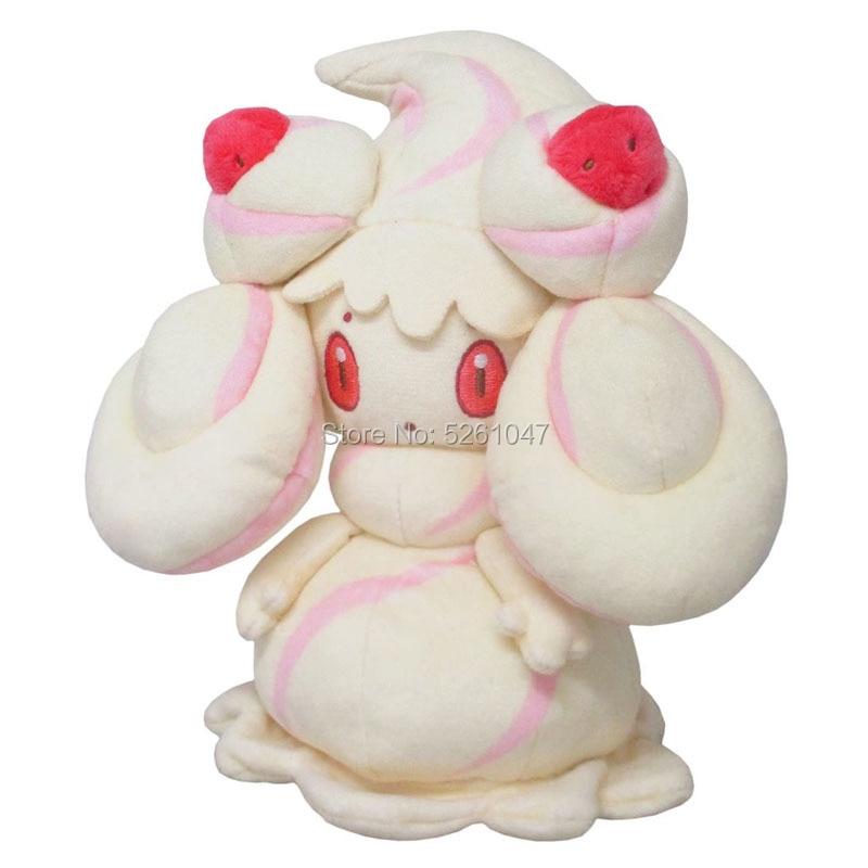 Original Pocket Monster Alcremie Plush Doll Sword Shield Stuffed Toy Cute Poke Figure 19cm Kid Gift