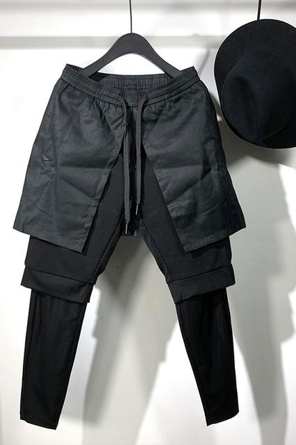 Owen Seak Men Casual Cross Pants Gothic Length Pants Men's Clothing Sweatpants Spring Harem Pants 6