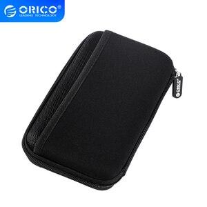 Image 1 - ORICO 2.5 بوصة HDD SSD واقية حقيبة التخزين المدمج في الداخلية صافي طبقة لبنك الطاقة كابل يو اس بي يو القرص كابل يو اس بي