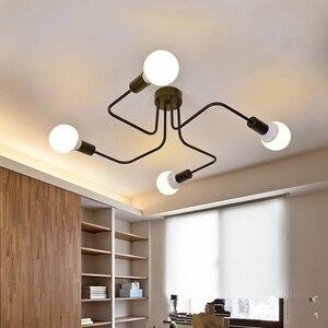 Image 2 - Tavan ışıkları Luminaria Led tavan lamba ışığı Vintage endüstriyel Loft ev aydınlatma armatürü oturma odası için Lamparas De Techo