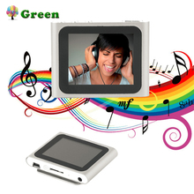 цена на Portable Size 1.8 Inch LCD Screen Display 6th Generation Music Media Video Movie FM Radio MP4 Player Easy Carry