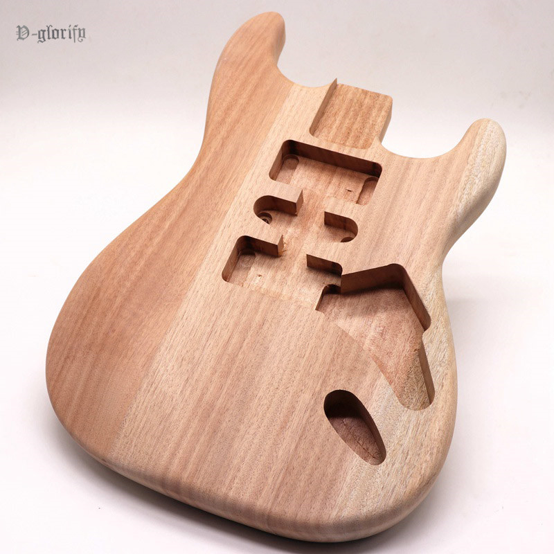 hard tail 2 pieces mahogany wood ST electric guitar body unfinished handcraft guitar barrel electric guitar body parts