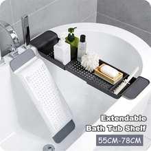 Держатель для ванной телефон стока стеллажи многофункциональные расширяющиеся полки для ванной комнаты ванночки выдвижные полки для хранения ванной комнаты