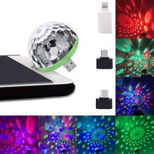 Чешское стекло диско шар питаемые через USB порт сценический светильник RGB сценический декорирующий проектор 4-светодиодный вращающийся зер...