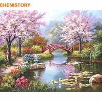 CHENISTORY, Fairyland, романтическая картина «сделай сам» по номерам, Картина на холсте, домашний декор, ручная роспись, Настенная картина, свадебное ...
