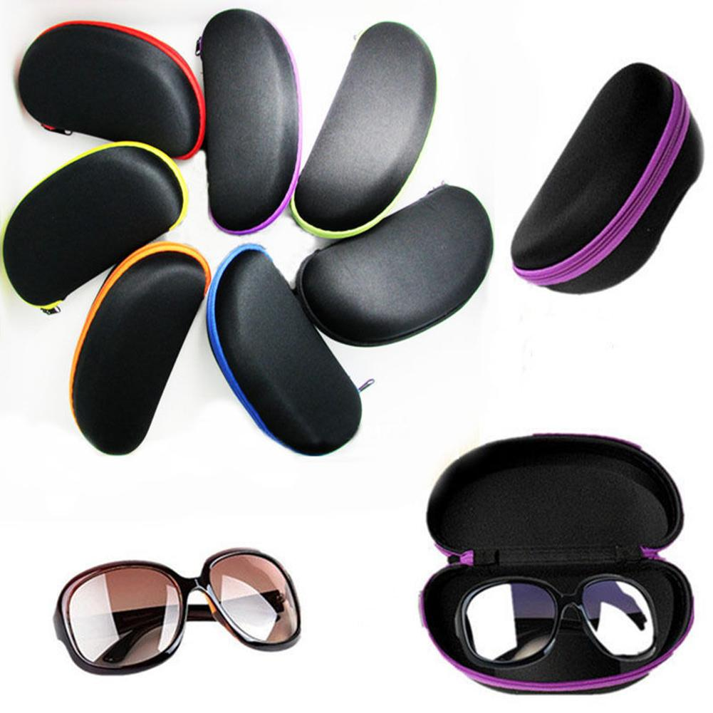 Protable Sunglasses Protector Durable Zipper Black Shell Hard Case Sunglasses Eyewear Eyeglasses Protector Box Accessories