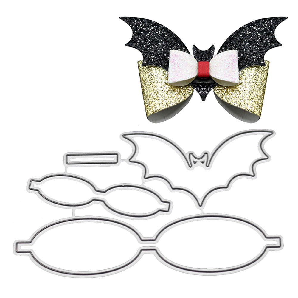 <font><b>Bat</b></font> Shaped Bowknot Metal Cutting Dies for Scrapbooking Home Decoration Paper Craft <font><b>Knife</b></font> Mould DIY Embossing Dies Tool image