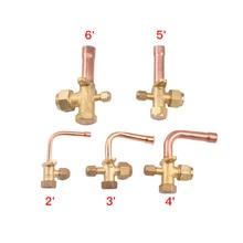 3 way 4 способ сервисный клапан для Установка для кондиционирования воздуха Обратный высокое и низкое давление воздуха кондиционер выпускной клапан