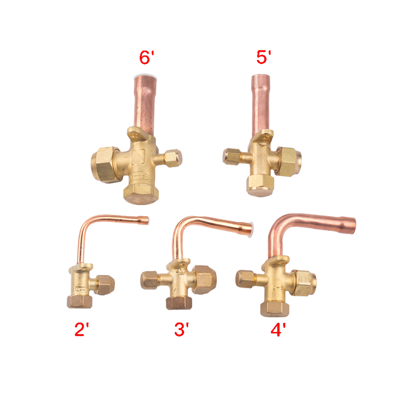3 Way 4 Way Service Valve For  Air Conditioning Fitting Reverse High And Low Pressure Air Conditioner Release Valve