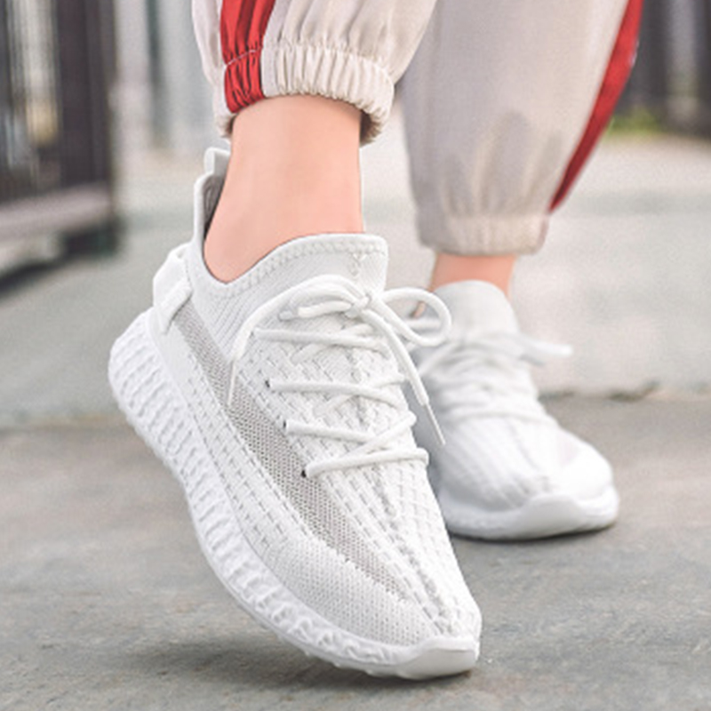 Women Sneakers Vulcanized Round Toe Woman Lace Up Mesh Female Low Heels Shoes Women's Ladies 2020 Loafers Casual Footwear