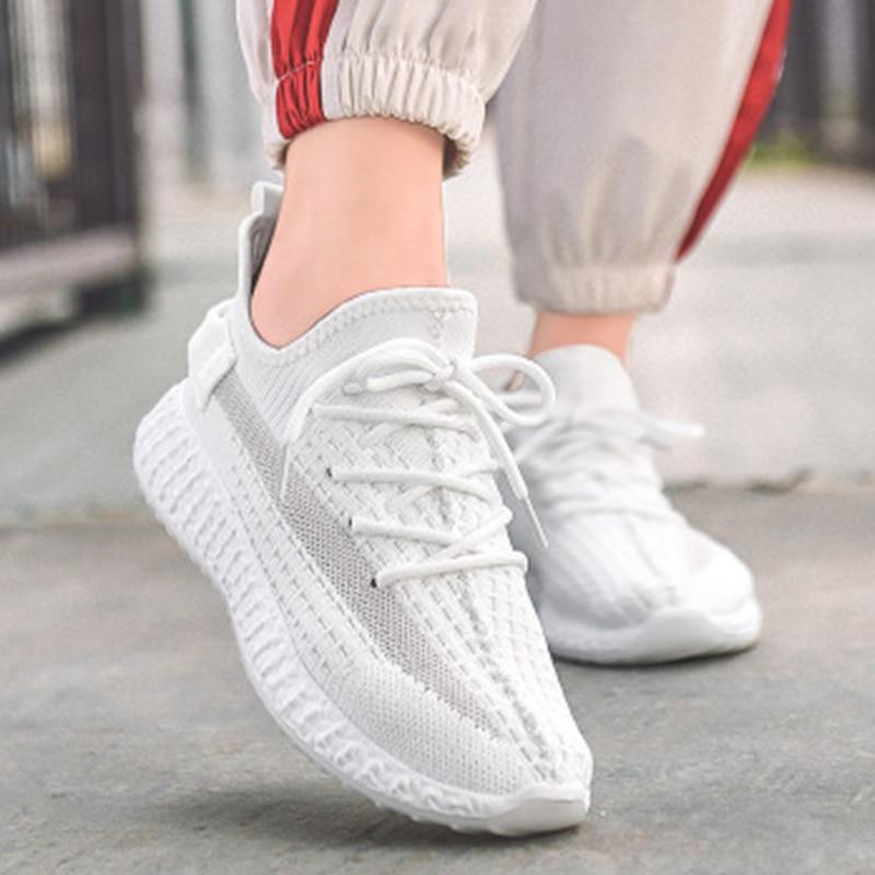 Women Sneakers Vulcanized Round Toe Woman Lace Up Mesh Female Low Heels Shoes Women's Ladies 2020 Loafers Casual Footwear