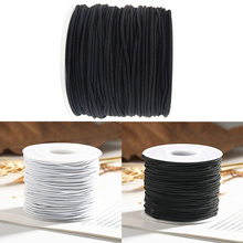 1.5mm/1.2mm/1mm/0.8mm Round Cylindrical Elastic Cord Round Cylindrical Core spun Sewing Accessories Hats/Beading Craft Supplies