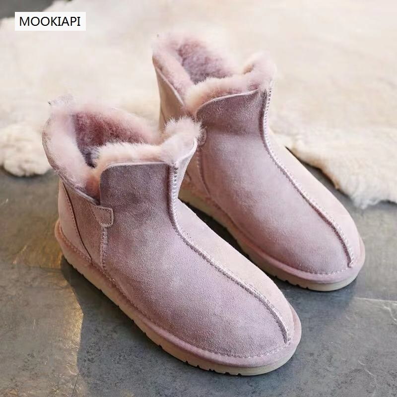 Australia's top quality women's snow boots in 2019, real sheepskin, 100% natural wool, new women's shoes, six colors
