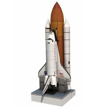 3D Paper Model Space Library Papercraft Cardboard House for Children Paper Toys 1: 150 Shuttle Atlantis Puzzle Handmade Rocket(China)