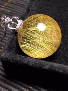 Image 3 - ธรรมชาติหินควอตซ์จี้ Ball ไทเทเนียมพลอย AAAAA 24 มม.จี้คริสตัลจี้