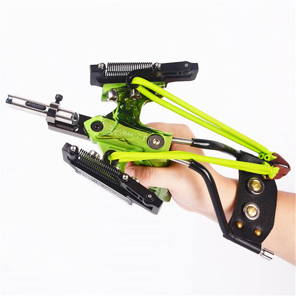 Laser Slingshot Catapult Rubber-Band Powerful Fishing Hunting Stainless-Steel  title=