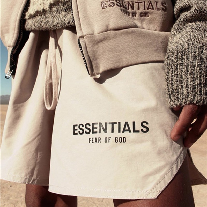 Essentials FOG Mens Sportswear Shorts 3M Reflective Color Shorts Letter Printing Highstreet Vintage Men Streetwear Shorts