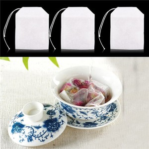 Image 4 - 100Pcs/Lot Teabags 5.5 X 7CM Empty Scented Tea Bags with String Heal Seal Filter Paper for Herb Loose Tea Bolsas De Te