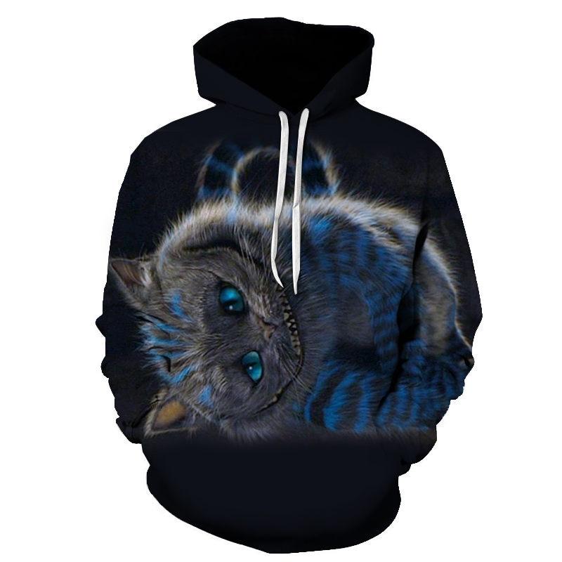 Women's Two Cat Sweatshirts Long Sleeve 3D Hoodies Sweatshirt Pullover Tops Blouse Pullover Hoodie Poleron mujer Confidante Tops 95