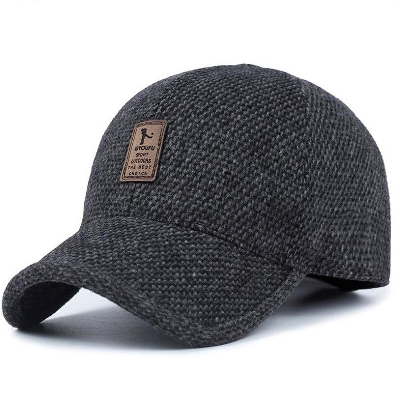 Gorra de béisbol de marca LA 2019 gorra de invierno para papá, gorra de algodón gruesa y cálida para hombre