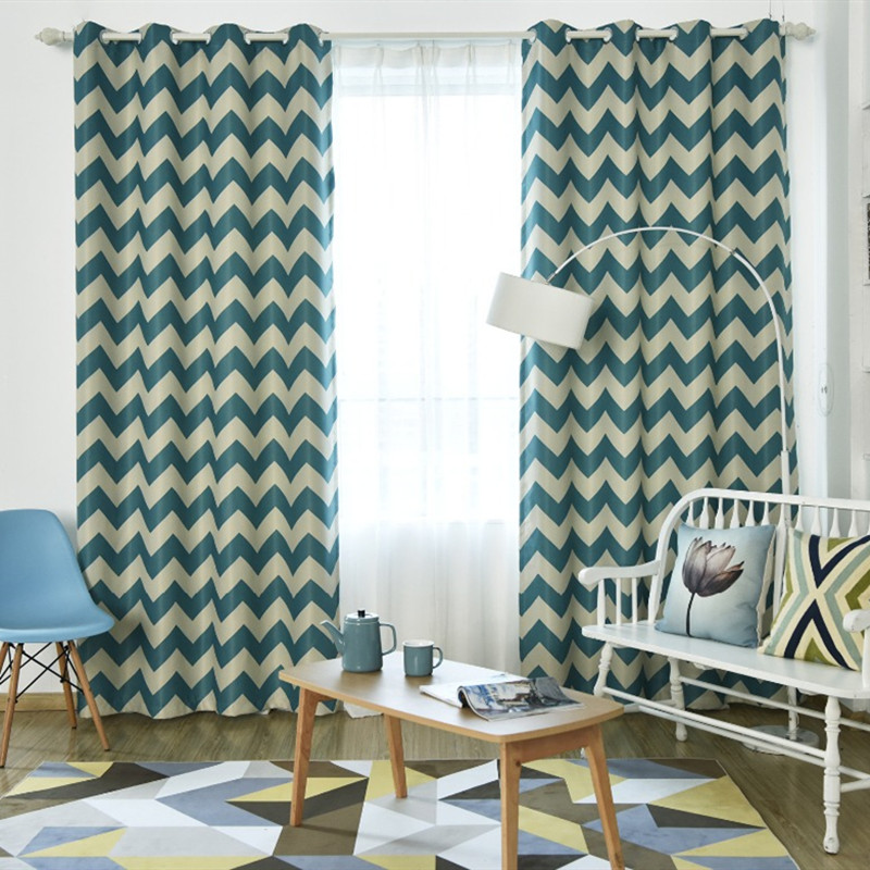 Nordic Striped Black Blackout Curtains For Living Room Bedroom Orange Curtain Drapes For Windows Treatment
