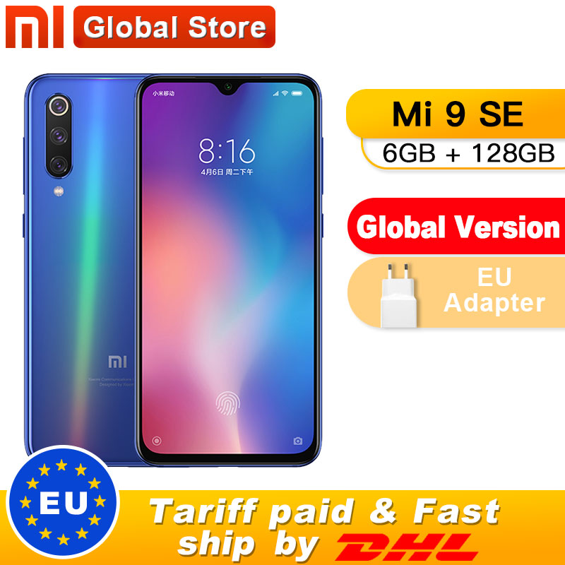 "Global Version Xiaomi Mi 9 SE 6GB 128GB Mi9 SE Mobile Phone Snapdragon 712 Octa Core 5.97"" 48MP Triple Camera