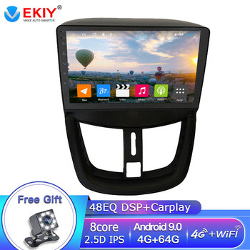 EKIY DSP 4G 64G Android Autoradio For PEUGEOT 207 2006-2015 Car Radio Multimedia Player GPS Navigation Bluetooth Stereo 2Din DVD image