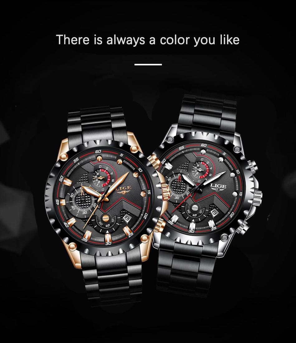 H1d5fca3ba6f84e188d742b0355789869S LIGE Top Brand Luxury Mens Fashion Watch Men Sport Waterproof Quartz Watches Men All Steel Army Military Watch Relogio Masculino