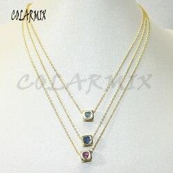 10 sztuk hurtowych pojedyncze złote kostki wisiorek do naszyjnika złoty kolor wisiorek do naszyjnika prezent dla pani modna biżuteria naszyjnik50609