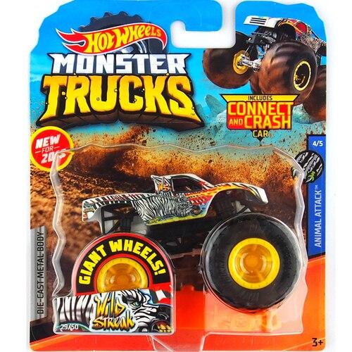 1: 64 оригинальные горячие колеса гигантские колеса Crazy Barbarism Монстр металлическая модель грузовика игрушки Hotwheels большая ножная машина детский подарок на день рождения - Цвет: 29