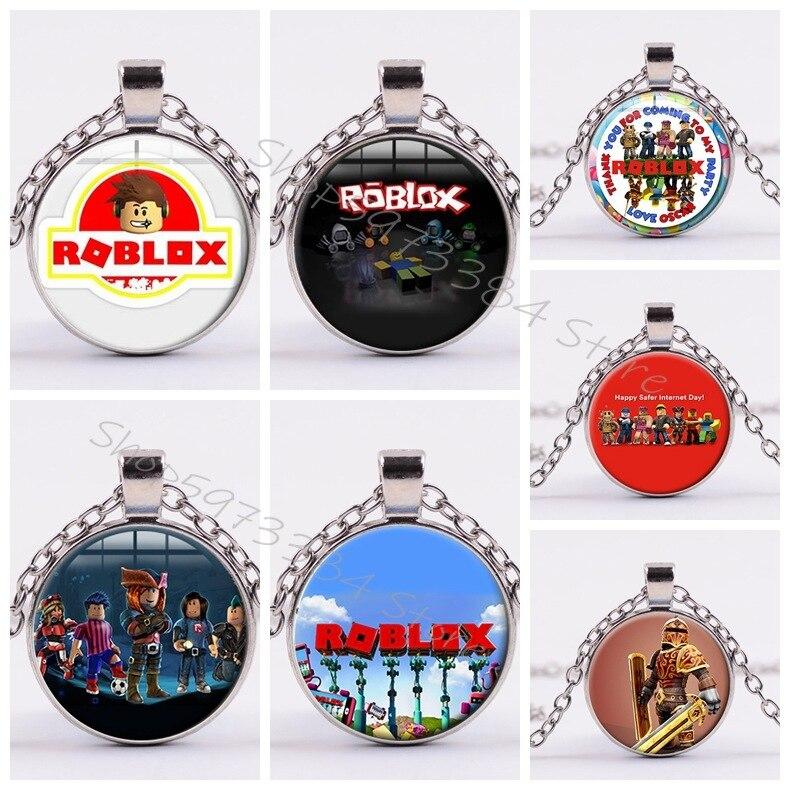Nouveau Robloxs dessin animé jeu étoiles pendentif chaîne décoration pour hommes enfants collier unisexe bijoux Cosplay ornement Souvenirs enfant cadeau