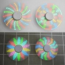 Прочный маленький светодиодный RGB Вращающийся DIY Круглый треугольник акриловый ручной POV ручной Спиннер интересный SMD обучающий комплект