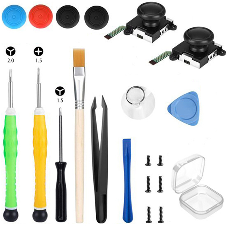 1 Set Repair Tools Kit 3D Joystick For Nintendo Switch Joy-Con Controller Repair Parts Rocker Replacement With Tools