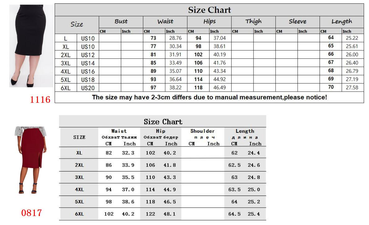 CACNCUT Big Size High Waist Bag Thigh Skirt Business Casual Skirt For Women 2019 Plus Size Bodycon Pencil Office Skirt Black 6XL 21