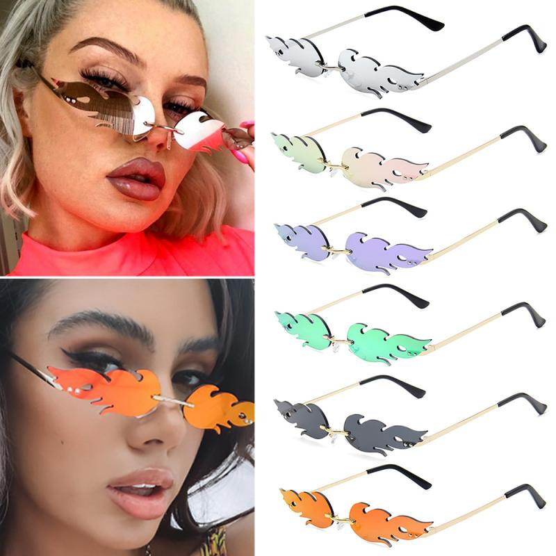 2020 NEW Fashion Cycling Fire Flame Sunglasses Wom