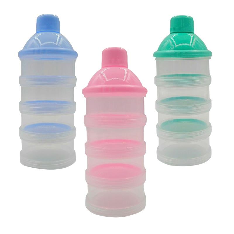 Bottle 3 Grid Food Feeding Leakproof New Box Storage Container Milk Powder