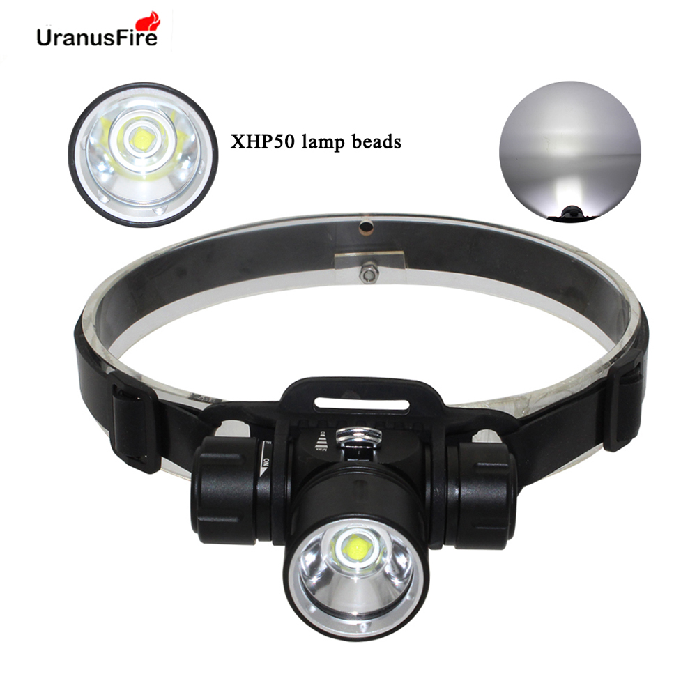 XHP50 LED Scuba Diving Headlight Torch Waterproof Underwater 100M Flashlight 18650 Battery Headlamp XHP50 Powerfull Head Light