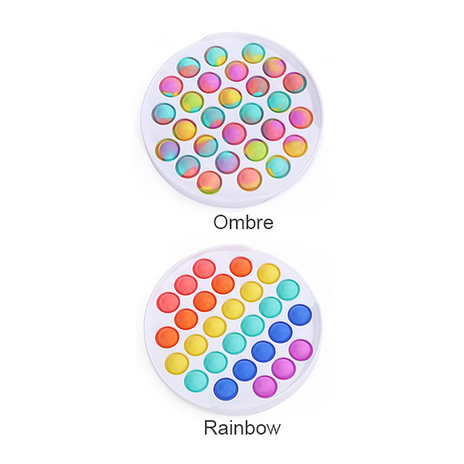 Fidget-Sensory-Toy Game-Stress Bubble Pops Squishy-Pops Special Needs Rainbow-Push Relief img5