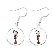 Sexy Betty Drop Earrings For Women Fashion Jewelry Retro Round Betty Boop Earrings Jewelry Xmas Gift Halloween Gifts(China)