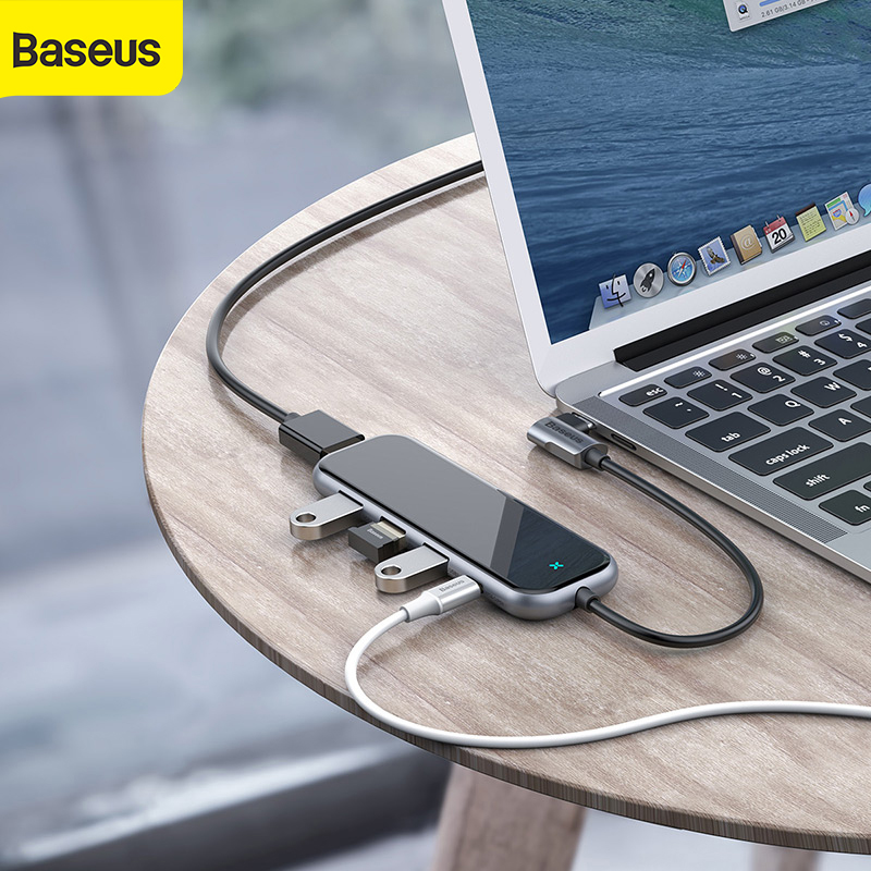 Baseus USB Hub To HDMI USB 3.0 Hub For Macbook Pro Huawei Samsung 5 Ports Mobile Phone Adapter USB Splitter Dock Type C Hub Hab