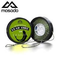 Mosodo 10M Carp Fishing Leader Line Leadcore Camo Green Lead Core 25LB 35LB 45LB Hair Rigs 12 Strand Braided Wires 10 Meters