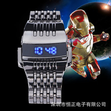 Iron Man 3 Robot South Korea Creative Fashion Men LED Watch Waterproof