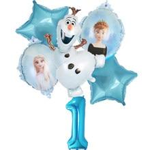 1 conjunto novo elsa olaf disney congelado princesa balões da folha do chuveiro do bebê menina boneco de neve festa de aniversário decorações crianças brinquedos ar globos