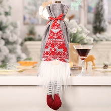 Christmas Decoration Red Wine Bag Cute Three-dimensional Old Man Bottle Simulation Beard Cover