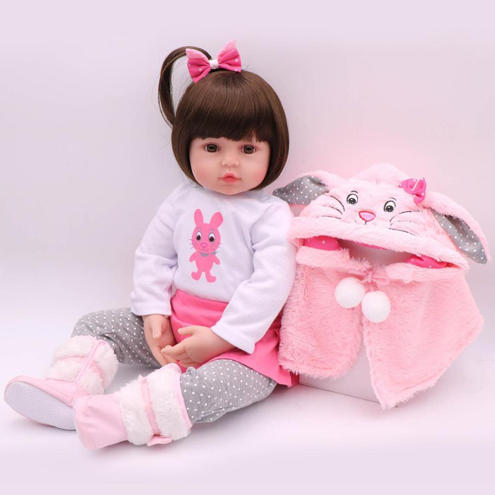 47CM Silicone Reborn Super bébé réaliste enfant en bas âge bébé Bonecas enfant poupée Bebes renaître jouets pour enfants cadeaux