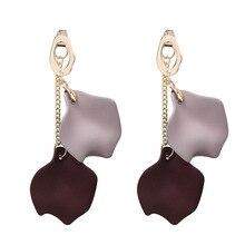 Korean Drop Earring Long tassel stereoscopic petals earrings ins style eardrop female fashion and personality Girls