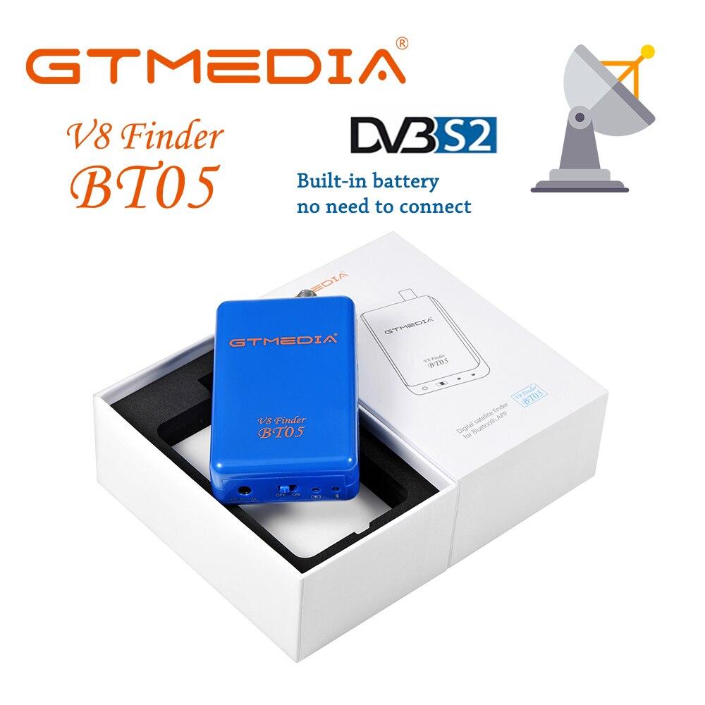 GTmedia V8 Finder BT05 Mini Sat Finder BT DVBS2 Satellite Finder Meter With Android & IOS System App Freesat BT03 Upgrad HD1080P